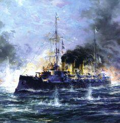 Defeat of the Russian fleet at Tsushima