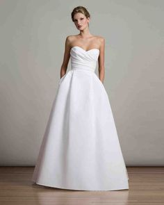 Liancarlo Fall 2017 Wedding Dress Collection | Martha Stewart Weddings – Strapless ball gown wedding dress