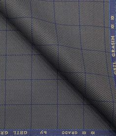 Grado by Grasim Grey Polyester Viscose Structured Cum Checks Unstitched Suiting Fabric Suit Fabric, Grey Fabric, Suit Combinations, Self Design, Three Piece Suit, Blue Check, Casual Party, African Wear, Fabric Tags