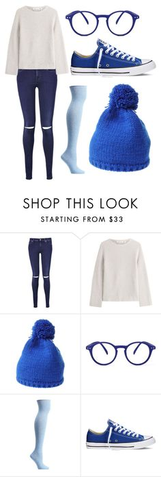 """Sadness from inside out"" by lauren53103 on Polyvore featuring 7 For All Mankind, Helmut Lang, Souvenir, See Concept, Ozone, Converse, Sadness, Costume and insideout"
