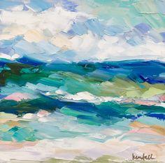 """Turquoise Tide"" Kendallkirkart.com beach painting // ocean art"