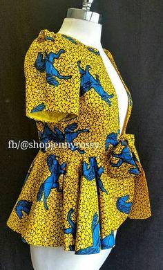 ROSE African print topAnkara jacket African print by JENNYROSSY