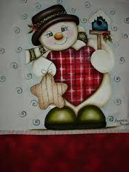 Resultado de imagem para pinturas em panos de prato natalinas com risco