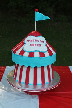 Another neat idea using a giant cupcake pan...a circus tent via Catch My Party