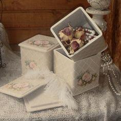 """Комплекты аксессуаров ручной работы. Ярмарка Мастеров - ручная работа Набор коробочек для хранения """"Жемчужный букет"""". Handmade."""
