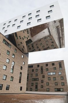 NHOW Hotel Berlin by Voss Berlin Germany architecture / mirror / brick / ceiling