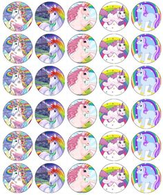 X 30 Unicorn Horse Cupcake Toppers Edible Wafer Paper Unicorn Cupcakes Toppers, Edible Cupcake Toppers, Unicorn Cake Topper, Bottle Cap Art, Bottle Cap Crafts, Bottle Cap Images, Unicorn Horse, Cute Unicorn, Unicorn Birthday Parties