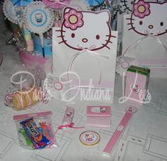 #Bolsita de #papel + #golosinas personalizadas con #Kitty