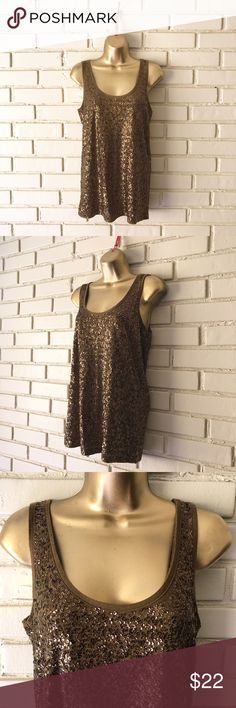 "J. Crew - Bronze Sequined Sparkly tank Top S J. Crew - sparkly sequin tank top- beautiful bronze color. Excellent condition! Size small. Approximate Measurements: armpit to armpit (flat) 16.5"" (creating a 33"" bust), 24"" long. Please let me know if you have any questions! Thanks! J. Crew Tops Tank Tops"