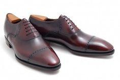 Corthay burgundy shoes