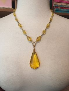 IBA CZECH Glass Pendant Necklace INSPIRED by by thepopularjewelry
