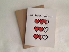 My hearts are empty, Love Card. $3.50, via Etsy.