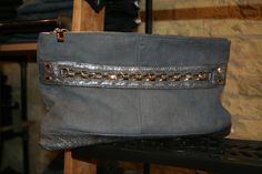 Deux Lux Suede and Chain Detail Clutch - Find it at Denim Bar MKE #Milwaukee's Top designer brands and fashions. Over 1,000+   Pairs of Premium Denim for Him & Her. www.Facebook.com/DenimBarMKE
