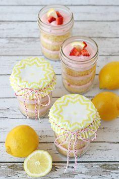 Strawberry Lemonade Cupcakes - Glorious Treats