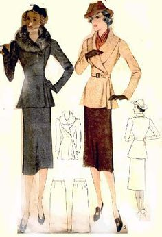 McCall 9446 by Francevramant | 1937 Ladies' & Misses' Two-Piece Suit