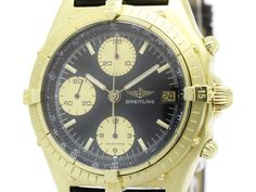 Polished #BREITLING Chronomat 18K Solid Gold Automatic Mens Watch 81950 (BF105752): Authenticity guaranteed, free shipping worldwide & 14 days return policy. Shop more #preloved brand items at #eLADY: http://global.elady.com