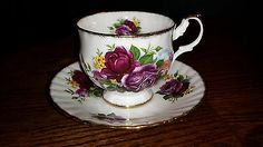 Royal Dover Bone China Footed Tea Cup and Saucer - Made in England