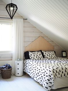 bedroom black and white scandinavian home