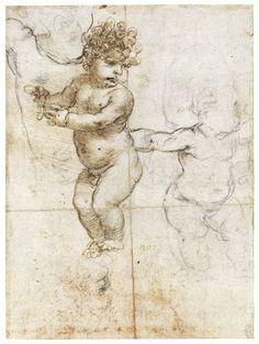 leonardo da vinci renaissance drawing sketch of baby - Leonardo Da Vinci Lebenslauf