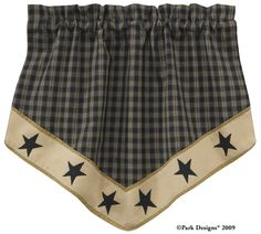 sturbridge curtains park designs curtains   Park Designs Sturbridge Border Star Lined Single Point Valance