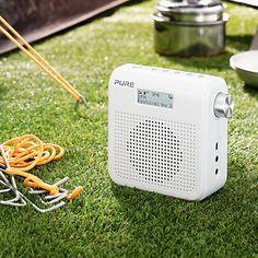 Buy Pure One Mini Series II DAB/FM Digital Radio, White from our Radios range at John Lewis. Pure One, Digital Radio, Pure Products, John Lewis, Mini, Stuff To Buy, Bathroom, Washroom, Bathrooms