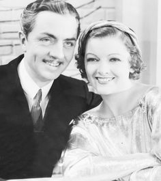 "William Powell and Myrna Loy publicity still for ""Manhattan Melodrama"""