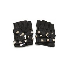 studded fingerless gloves ($25) ❤ liked on Polyvore featuring accessories, gloves, fingerless gloves, studded gloves and studded fingerless gloves