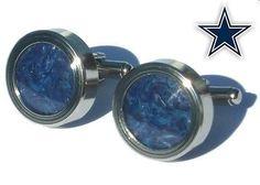 Dallas Cowboys Game Used End Zone Turf Silver Cuff Links Wedding Groomsman Gifts