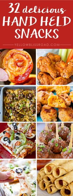 50 BEST Appetizers - Dips and Hand Held Snacks - Yellow Bliss Road