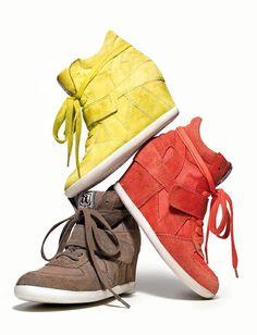 Ash Hightops, Fashion Shoes, Ash Wedges, Gym Shoes, Wedge Hightops, Sneaker Wedges, Wedge Sneakers