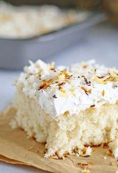 The BEST Coconut Cream Cake recipe!  So yummy!