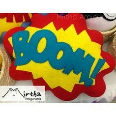 Speech Buble / felt pillow  Super heroe sound efect #cómic #felt #pillow #Guayaquil #ecuador