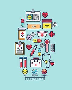 Proud To Be a Nurse / Surface Pattern Design / Blue Canvas Print Nursing Wallpaper, Medical Wallpaper, Nurse Art, Apple Watch Wallpaper, Blue Poster, Canvas Prints, Art Prints, Blue Canvas, Blue Art