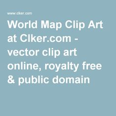 World Map Clip Art at Clker.com - vector clip art online, royalty free & public domain