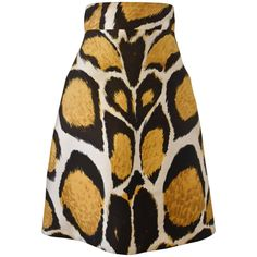 Giles Animal Print A-line High-Waisted Silk Skirt  | From a collection of rare…
