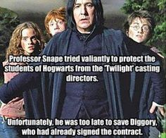 Poor Diggory!  Forever the tragic end...