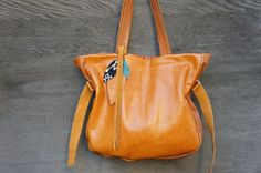 New//Josephine Traveler in Vintage Orange Camel by arebycdesign, $294.00