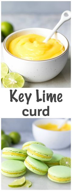 Key Lime Curd Recipe - tangy, rich and sweet, this key lime curd is easy to make and perfect for pancakes, toast, macarons or to just eat it with a spoon. via @cookinglsl