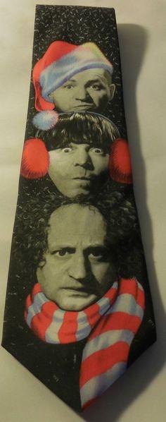 Ralph Marlin Three Stooges Christmas Necktie Novelty #RalphMarlin #NeckTie