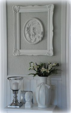 Shabby Chic, have to remember to use my frames. I have a few that would make a great collage on my wall