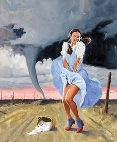 Pin up version of Dorothy from The Wizard of Oz