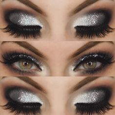 makeup cut crease eye makeup eye makeup remover vs neutrogena eye makeup goes with a pink dress makeup using only kajal clinique eye makeup hypoallergenic makeup in hand makeup aesthetic Makeup 2018, Prom Makeup, Wedding Makeup, Hair Makeup, Silver Eye Makeup, Makeup For Brown Eyes, Smokey Eye Makeup, Makeup For Silver Dress, Grey Dress Makeup