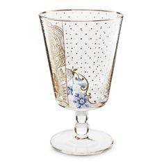 Vaisselle en porcelaine et verres avec détails florals et dorures Pip Home…