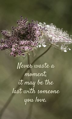 Never waste a moment ...