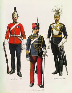 British; 1st Dragoons, Corporal, 1895. 11th Hussars, RQMS, 1898 & 17th Lancers, Officer, 1898