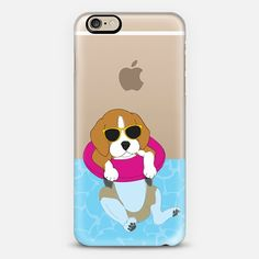 Swimming Beagle - Classic Snap Case