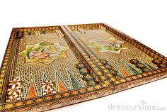 Persian mosiac backgammon set by Monica Boorboor, via Dreamstime