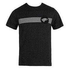 HBO's Game of Thrones Stark Crest Stripes T-Shirt $17.99 http://gameofthronescentral.com/?product=hbos-game-of-thrones-stark-crest-stripes-t-shirt-2 #housestark #winteriscoming #thenorthremembers