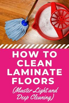 Cleaning your floors is an important aspect of caring for your home. If you have laminate floors then, knowing how to clean laminate floors is crucial. This in-depth guide to light, deep, and spot cleaning will help you. #laminate #laminatefloors #laminateflooring #cleaningfloors #cleaningtips #cleaninghacks #howtoclean Household Cleaning Tips, Household Cleaners, Diy Cleaning Products, Deep Cleaning, Spring Cleaning, Cleaning Hacks, Floor Cleaning, How To Clean Laminate Flooring, Wood Laminate
