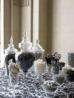 Black and white candy bar......would look great in my dining room!